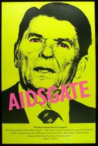 Cartaz de 1987 da organização Act Up.