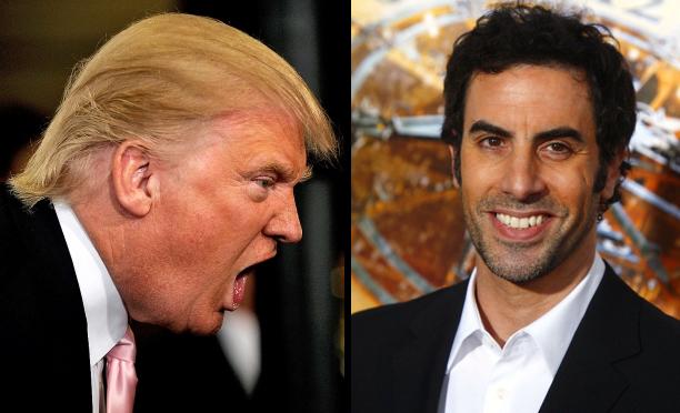 Donald Trump e Sacha Baron Cohen.
