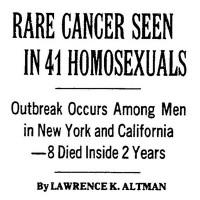 LK Altman, New York Times, 3 de julho de 1981.